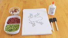 hidden picture bean mosaic - a new twist on an art classic