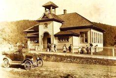 One Room School in Minnehaha Springs, Pocahontas Co., WV-1921-building still standing--EWVAIH