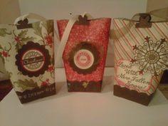 Christmas gift bags. so simply to make.