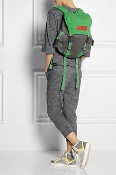 Adidas by Stella McCartney | Shell and neoprene-effect backpack.