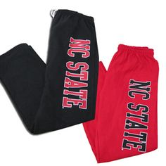 NC State Sweatpants in Red or Black