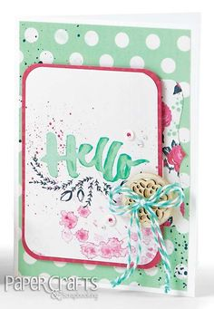 Use journaling cards for the background and sentiment on your card; Shemaine Smith - Paper Crafts & Scrapbooking Photo Pocket Scrapbooking: make cards, hello, watercolor