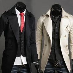 New Slim Fit Trench Coat. I want the white one!