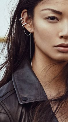 This ear piece is so on trend this season in jewelry.