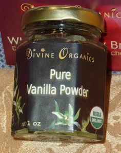 Divine Organics raw organic ground vanilla will be a staple product in my kitchen. It can be purchased online.