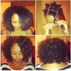 natural hair blow dry braid out - Google Search