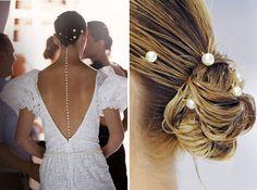 mermaid pearl hairpins at chanel