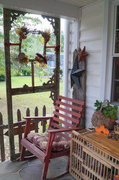 old screen door for porch privacy porch privaci, door idea, old screen doors, porch decor, old porch doors, door frames
