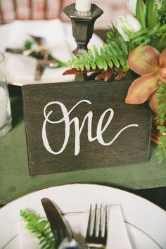 tabl number, table numbers