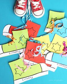 Chucks / Converse / birthday invitation / Geburtstagseinladung / was eigenes Blog