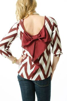 Our garnet bow back top is adorable and ...