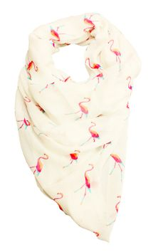 Flamingo scarf by Printed Village. I want this very much.