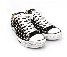 Silver Studded Low Top Converse