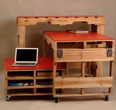 Pallet Office Furniture - 3 Unique Ways to Use Pallets | 99 Pallets