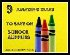 9 Ways to Save Money on School Supplies