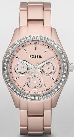 Fossil Stella Boyfriend Aluminum Watch - Blush $76.84