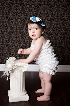 love the petti on baby, w/ dark wood floor