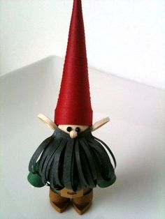 Garden Gnome Ornament Paper Quilled by WintergreenDesign on Etsy, via Etsy.