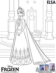 ELSA: Disney Frozen Free Printables - Coloring Pages and Activity Sheets #disney