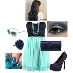 Turquoise and Navy
