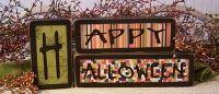 decor, block holiday, craft, idea, autumnhalloween fun, halloween sign, fall, happi halloween, happy halloween