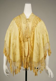 Cape 1850, American, Made of silk