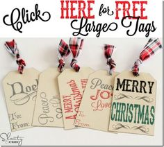 Click Here for Free Large Tags