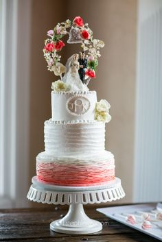 Stephie Joy Photography : Jacksonville and St. Augustine Florida Wedding and Lifestyle Photography » Jacksonville and St. Augustine Florida Wedding and Lifestyle Photography  vintage cake pink floral topper