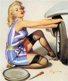 Gil Elvgren | Famous & glamour Pin-Up vintage artist