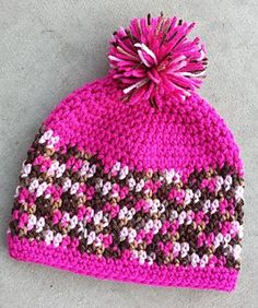 A great basic hat for toddlers to adult. FREE pattern.
