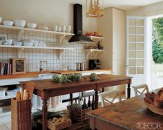Inspiring Rustic Country Kitchens - ELLE DECOR