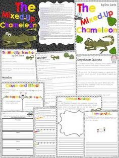 *FREEBIE* The Mixed Up Chameleon: Comprehension, Vocabulary, & Word Work