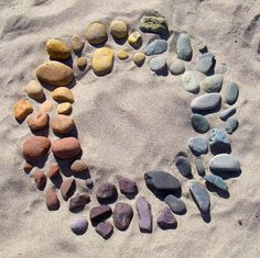 River Rocks. Natural Color Wheel with beautiful neutrals.