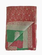 Vintage Sari Quilt in mellow colors