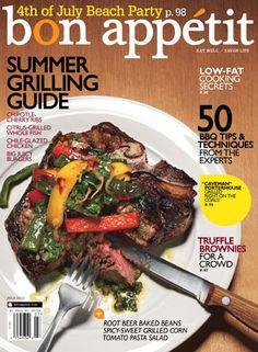 July 2010 Table of Contents - Bon Appétit