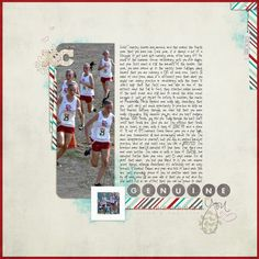 Like the layout - also a great idea for scrapbooking sports photos.