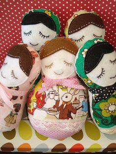 sweet little babushka dolls tutorial