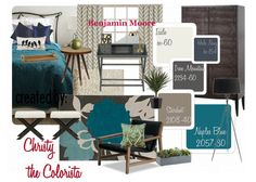 . bedroom idea, color palettes, bedroom redo, blue, room colors, bedroom paint, revere pewter bedroom, revere pewter color palette, rever pewter