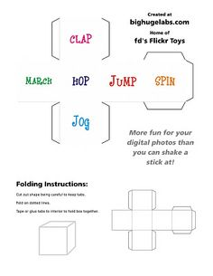 Make Your Own Action Dice FREE printable   YourTherapySource.com Blog