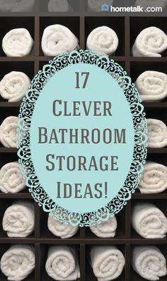 17 Clever Bathroom Storage Ideas!