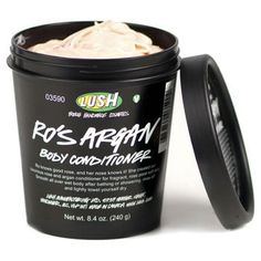 Lush Ro's Argan body conditioner after shower This product is wonderful! Love, that you can apply your body conditioner in shower on wet skin.❤