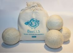 These dryer BaaLLS reduce drying time and static cling, and soften clothes. No nasty chemicals or disposable dryer sheets for me!