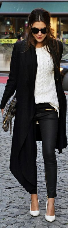 FASHION MARKET: Lovely Back and White Style