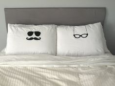 idea, glasses, pillow case, weddings, funny gifts, pillowcases, bedroom, pillows, wedding gifts