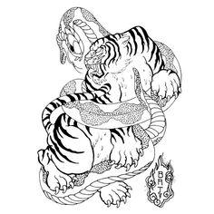 tiger on pinterest tiger painting japanese tiger tattoo and tiger. Black Bedroom Furniture Sets. Home Design Ideas