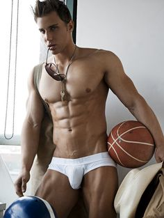 Christian Bok © RICK DAY rickday.blogspot.com # pecs six pack abs hot guy male fitness model speedo briefs adonis shirtless