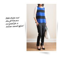 What We Wear: Cobalt Stripes + Slim Fit Trousers