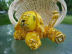 fabric yo-yos -