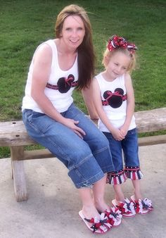 Custom Boutique Girls m2m Mommy and Me Minnie and by chloesmommy, $33.00