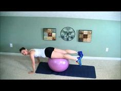 """Grab your fitness ball and let's strength train our bodies. Light weights used but not necessary. This low impact strength training routine is sure to sculpt and tone your arms, strengthen your abs and low back not to mention upper back and chest work. You will challenge your """"CORE"""" with basic planks all in one 15 minute workout. TheBeachBodyMom makes all workouts sensible and highly effective at burning body fat while strengthening your muscles at the same time."""